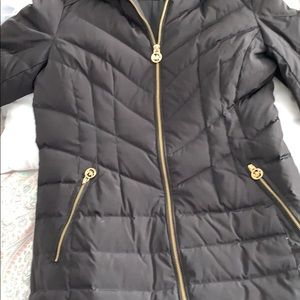 Michael Kors black long puffer coat size Med